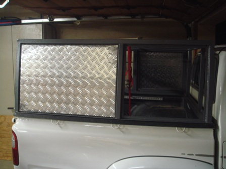 Diy Canopy For Hilux With Steel Frame And Aluminium Cladding